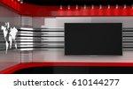 tv studio. backdrop for tv... | Shutterstock . vector #610144277