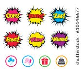 comic wow  oops  boom and wham... | Shutterstock .eps vector #610146677