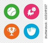 baseball sport icons. ball with ...   Shutterstock .eps vector #610149107