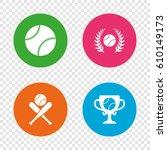 baseball sport icons. ball with ...   Shutterstock .eps vector #610149173