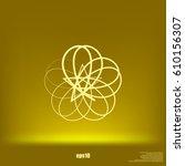 abstract logo vector icon... | Shutterstock .eps vector #610156307