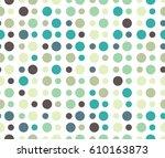 seamless circles vector... | Shutterstock .eps vector #610163873