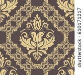 damask vector classic golden... | Shutterstock .eps vector #610171217