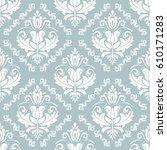 damask vector classic white... | Shutterstock .eps vector #610171283