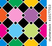 abstract geometric squares... | Shutterstock .eps vector #610177313