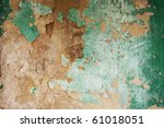 Green Weathered Painted Wall
