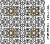 wallpaper baroque  damask.... | Shutterstock .eps vector #610187303