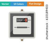 electric meter icon. flat... | Shutterstock .eps vector #610189403
