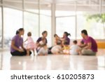 mother and child groups  blur... | Shutterstock . vector #610205873