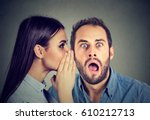 latest rumors. amazed man... | Shutterstock . vector #610212713