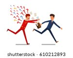 concept of business relations.... | Shutterstock .eps vector #610212893