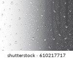 image of raindrops on gray...