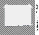 vector  white paper sheet ... | Shutterstock .eps vector #610217813