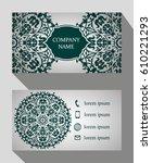 business card  vintage card set ... | Shutterstock .eps vector #610221293