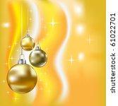 christmas balls and stars... | Shutterstock . vector #61022701