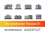 abstract city constructor in... | Shutterstock .eps vector #610237127