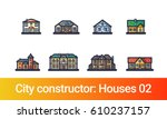 abstract city constructor in... | Shutterstock .eps vector #610237157