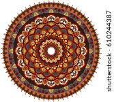 ethnic mandala ornament.... | Shutterstock .eps vector #610244387