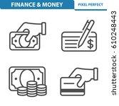 finance   money icons.... | Shutterstock .eps vector #610248443