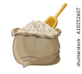 bag of rice  vector illustration | Shutterstock .eps vector #610252607