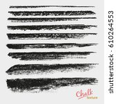 chalk and charcoal. a set of... | Shutterstock .eps vector #610264553