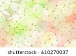 abstract geometric crystal... | Shutterstock .eps vector #610270037