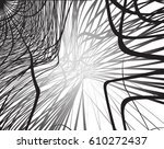 abstract mesh wirefram ... | Shutterstock .eps vector #610272437