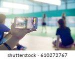 abstract blur facebook live at... | Shutterstock . vector #610272767