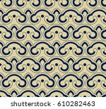 seamless background oriental... | Shutterstock .eps vector #610282463
