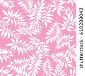 hand drawn pattern  tropical... | Shutterstock .eps vector #610288043