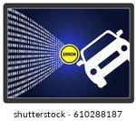 self driving car error. traffic ... | Shutterstock . vector #610288187