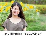 Cute Portrait Asian Thai Teen...