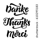 thank you phrase  photo... | Shutterstock .eps vector #610295183