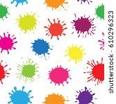 paint splashes background...   Shutterstock .eps vector #610296323