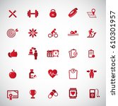 fitness icon set  | Shutterstock .eps vector #610301957