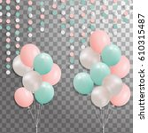 balloons isolated on...   Shutterstock .eps vector #610315487