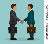 meeting of two businessmen and...   Shutterstock .eps vector #610322297