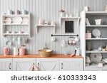 beautiful house  interior  view ... | Shutterstock . vector #610333343