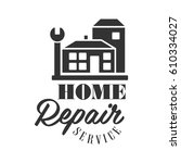 repair and renovation service... | Shutterstock .eps vector #610334027