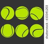 tennis sports balls vector...   Shutterstock .eps vector #610341203