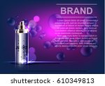 cosmetic product  spray bottle  ... | Shutterstock .eps vector #610349813