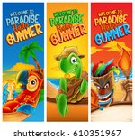 hello summer illustration | Shutterstock .eps vector #610351967