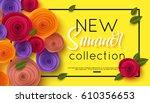 Summer fashion shopping banner template, vector illustration | Shutterstock vector #610356653
