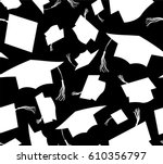 white silhouette throwing... | Shutterstock .eps vector #610356797