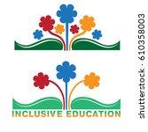 logo for inclusive education ...   Shutterstock .eps vector #610358003