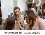 professional make up artist... | Shutterstock . vector #610360697