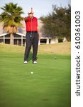 active senior man lining up a...   Shutterstock . vector #610361003