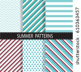 set of summer background ... | Shutterstock .eps vector #610363457