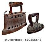 Original Antique Irons Isolate...