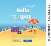 summer party illustration... | Shutterstock .eps vector #610383713